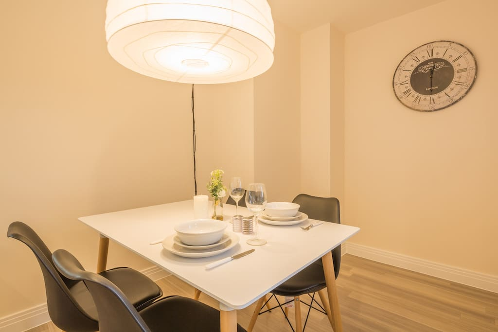 Dining area in the open plan living room