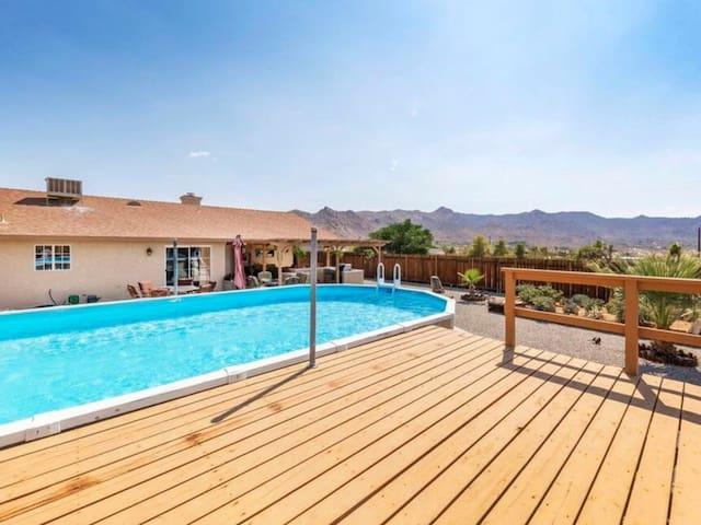 Backyard: pool and deck