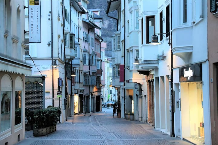 """Modern holiday apartment """"1. Piano - Family Apt. FeWo Bolzano"""" with Wi-Fi, air conditioning and in an optimal position in the old town of Bolzano"""