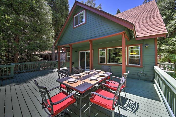 Serene Lake Arrowhead House w/Lake Access & Deck!