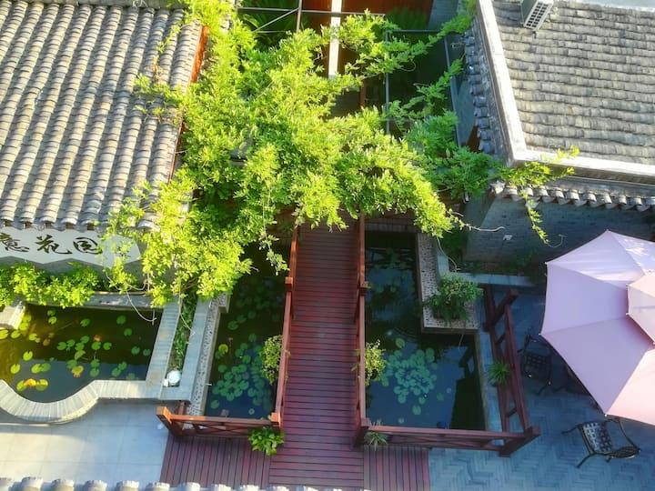 私家花园中8间房 【紫藤花园.民宅】也可分订1到7间 乌镇内免费接送 近景区