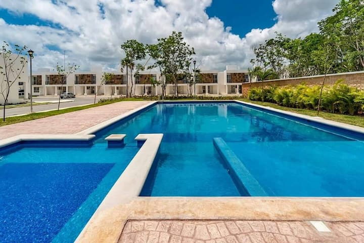 Habitación a20 mints d la playa c/acceso a piscina