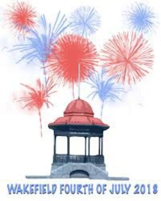 Wakefield is a very fun place for the 4th of July - we have a really large parade and awesome fireworks! This is all a short walk from the house.