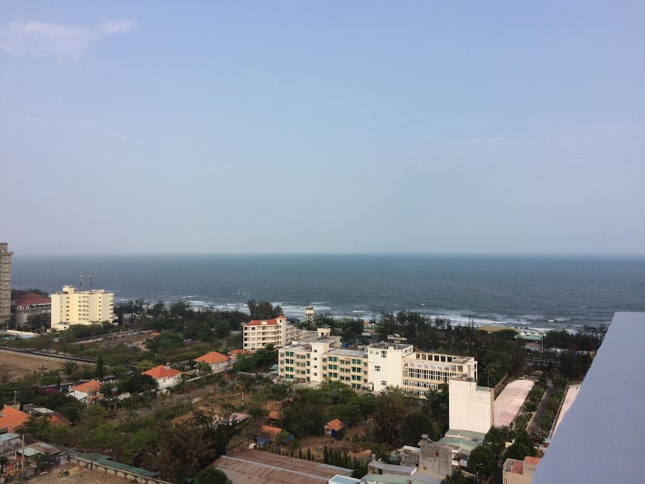 Ocean view from 21st floor of the building