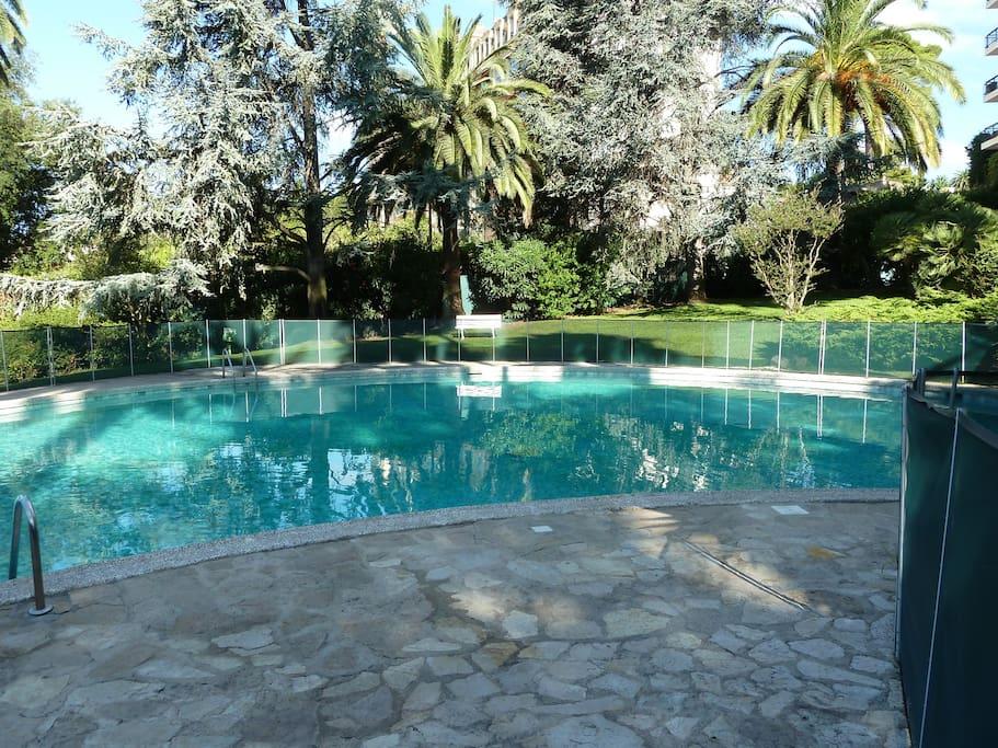 Cannes 2 chambres dans r sidence avec piscine for Piscine 2 alpes