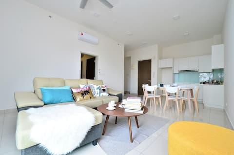 SELAYANG Homestay, 2 Bedroom 2 BR, 4-6 pax @wifi