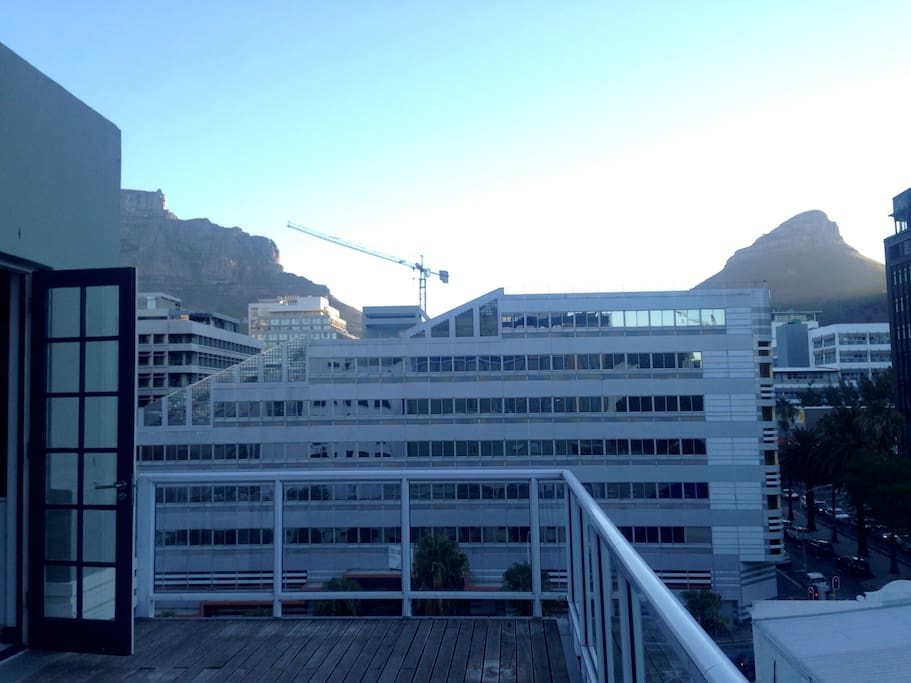 Views of Table Mountain, Lions Head and Bo Kaap