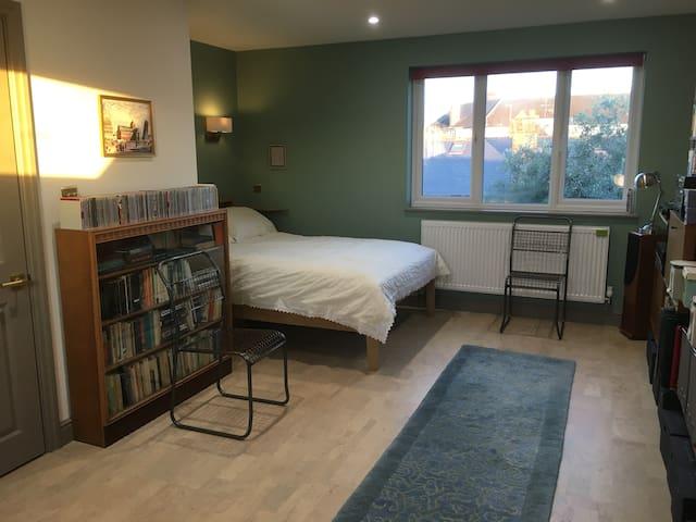 Large, light room and en suite - entire top floor.