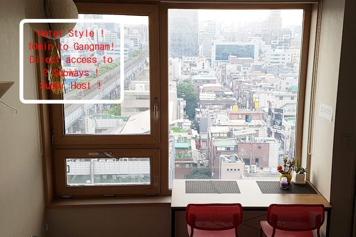 Cozy Penthouse:10 min-Gangnam Location!!!