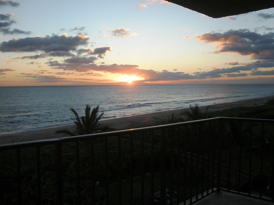 Sunrise from our balcony