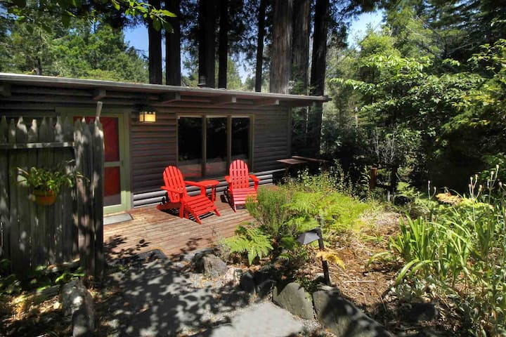 TREETOP: Hot Tub@Redwood Fairy Ring | Woodstove