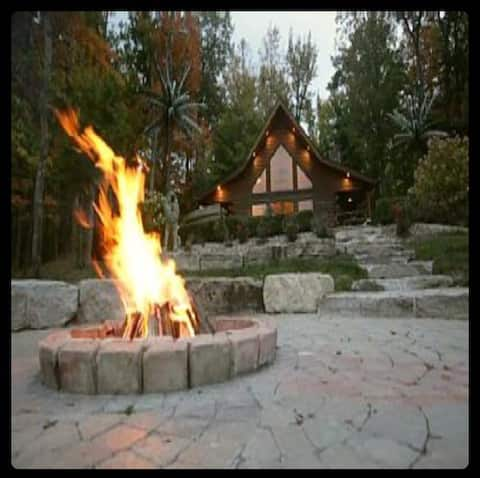 Log Cabin on Private 8 acre ISLAND!