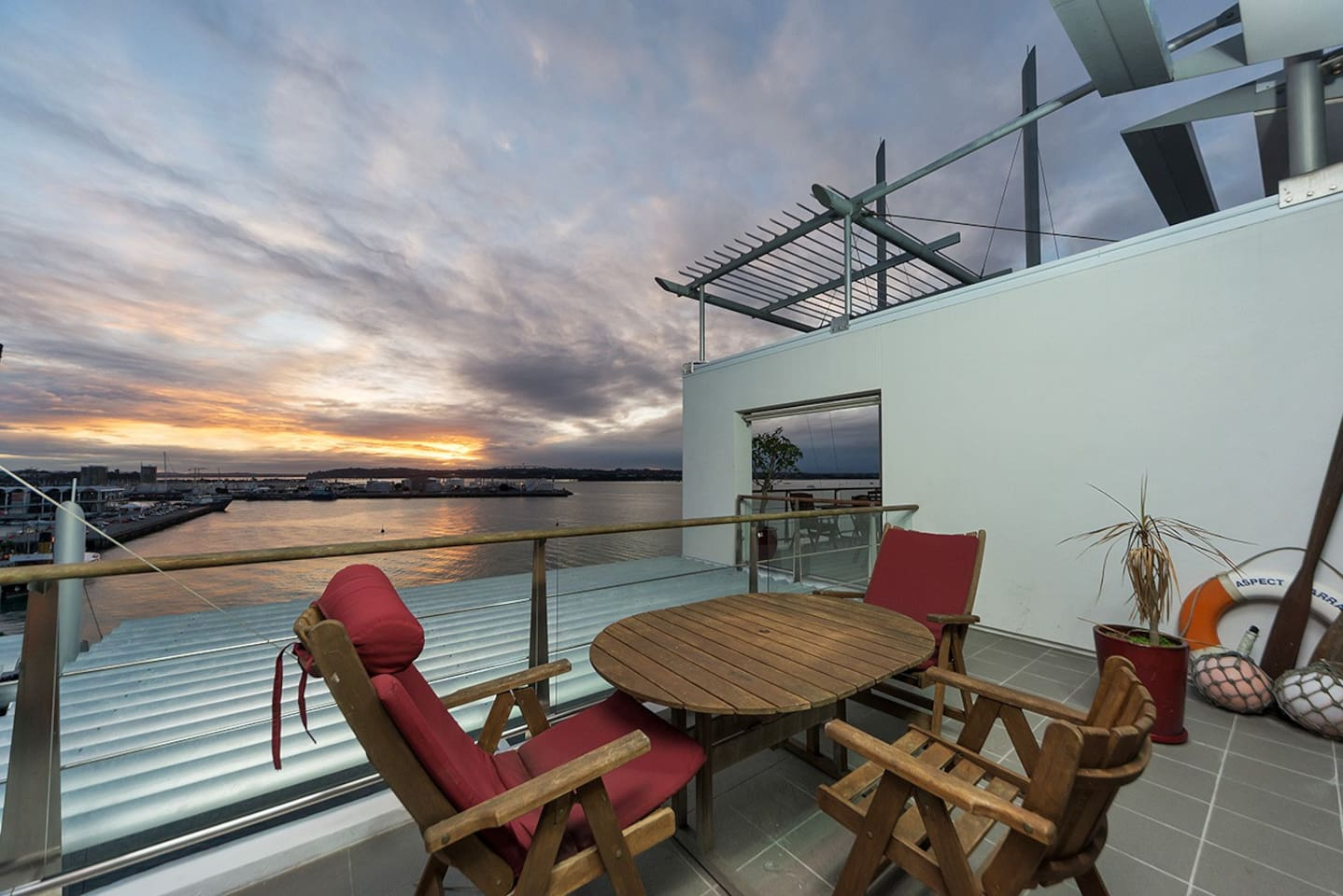 Sit on the deck and watch the sunset