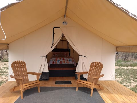 Glamping Tent at Wildland Gardens