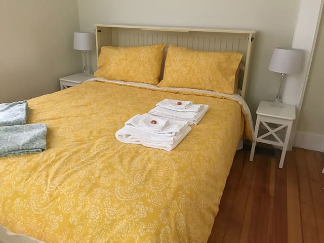 Queen size bed ready for you. Picture #1