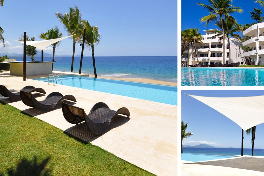 Our condo is located in Infiniti Blu Luxury Ocean Front Condos on a gorgeous Imbert beach