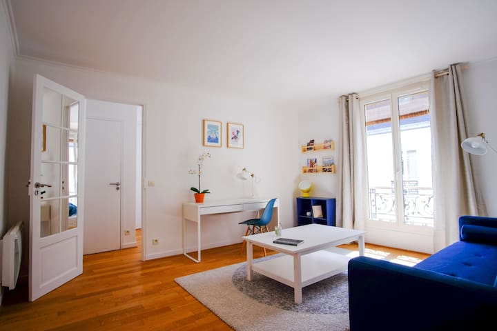 Interior Designed 1 bed close to Eiffel Tower