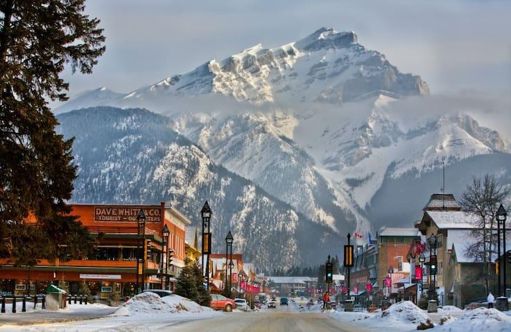Banff Avenue with Mt. Cascade