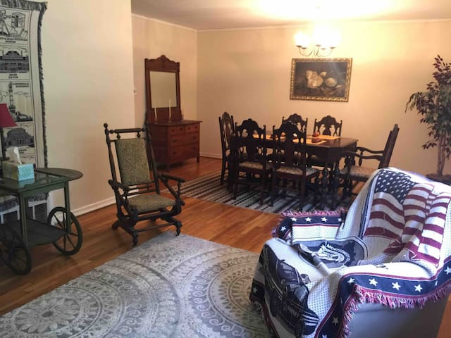 Dining room is just off the front living room.