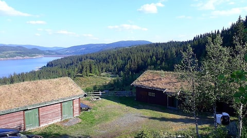 Idyllic summer-farm house in Synnfjellet, Norway.