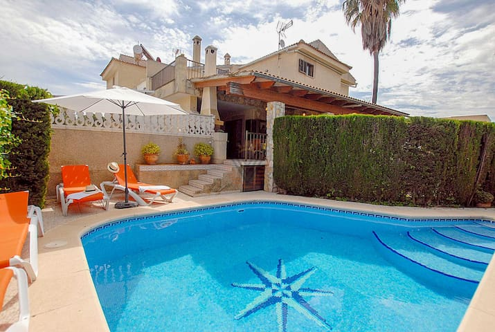 Holiday Villa Ses Gavines just a few meters from the beach.