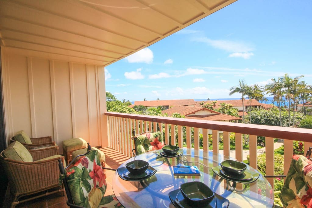 Lanai with a Beautiful Ocean View