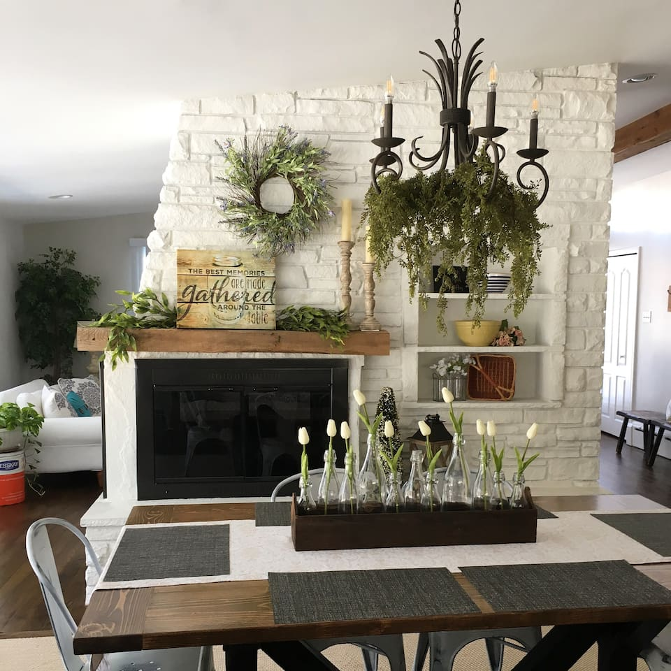 The dining room- the center of the home