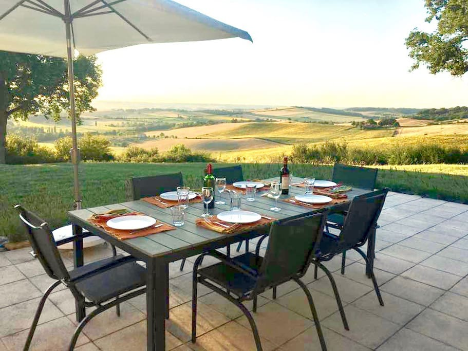 Dine al fresco on the terrace overlooking the stunning view!