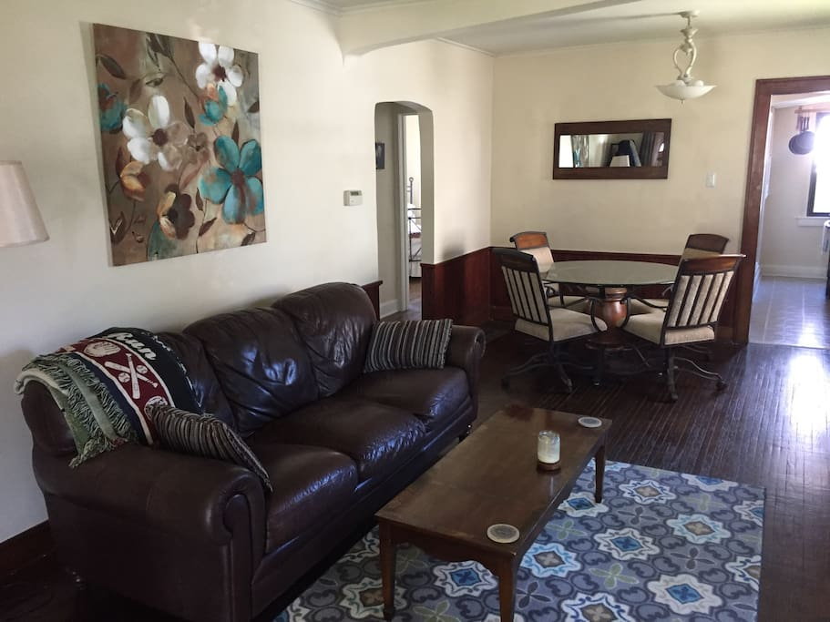 Living Dining area with flat screen TV