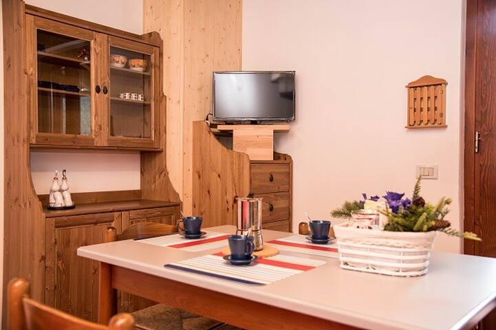 Casa Genzianella, appartamento in legno mansardato