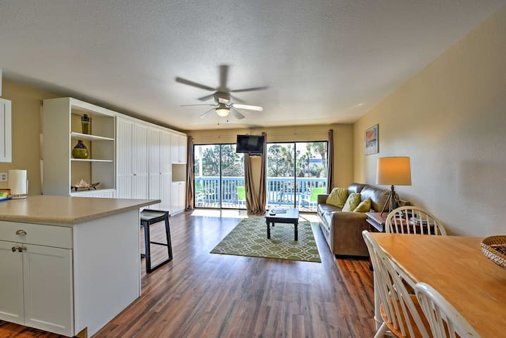 An open floor plan makes spending time together a breeze.