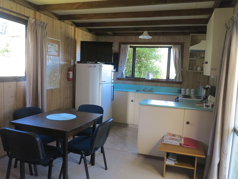 Kitchen and dining area in cottage 1