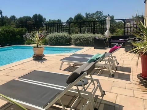 1,2,3 SOLEIL Grand studio climatisé piscine privée