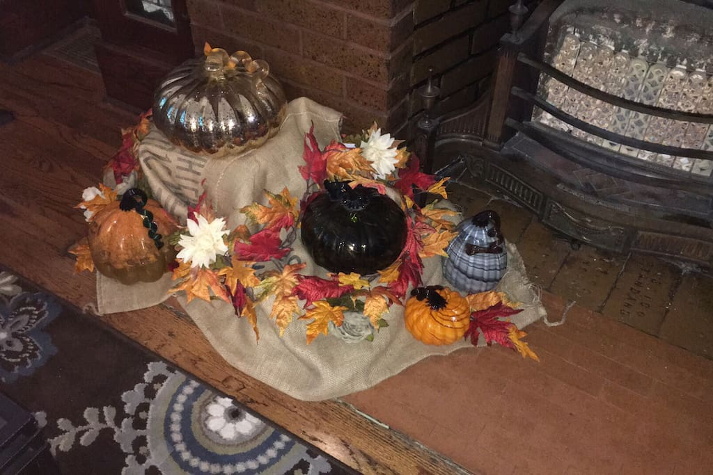 Fall decor is up and we are ready for some bon fires. Bring on the sweater weather!