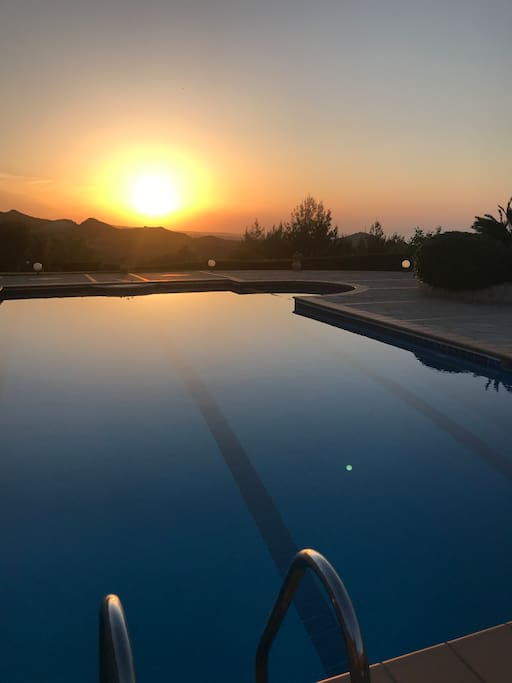 Sunset view from the swimming pool!