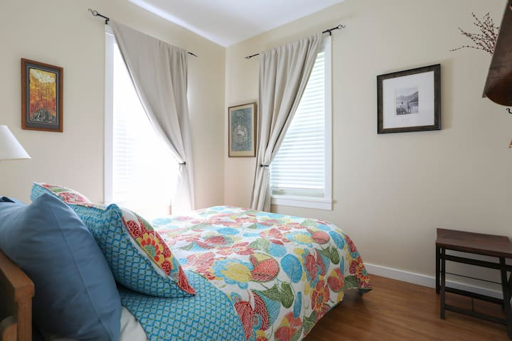 Lots of great light in the downstairs bedroom with blackout blinds for sleeping in.