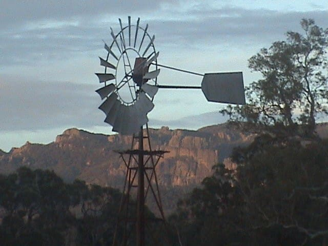 Our iconic windmill at sunset