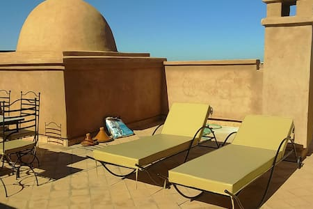 Résidence avec piscine et solarium