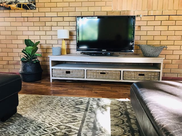 Large TV and DVD
