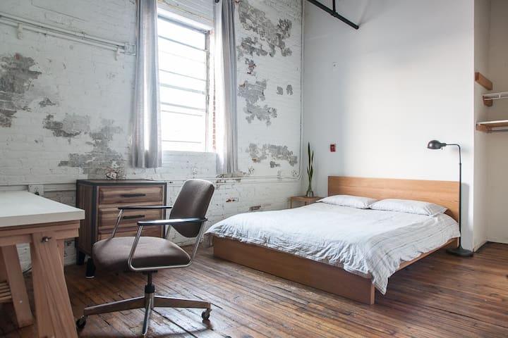 Large Bedroom in Unique Artist Loft