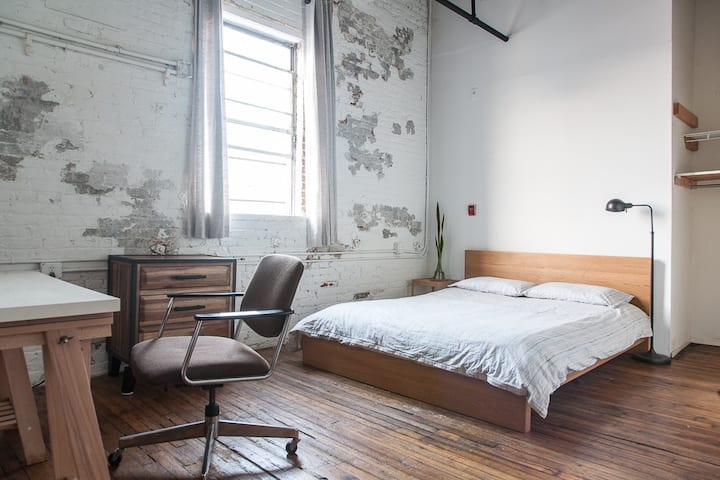Large Bedroom in Unique Artist Loft
