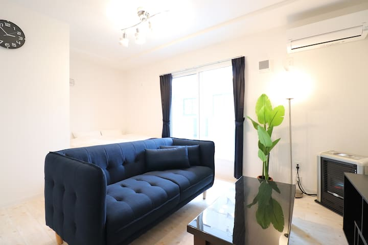 HR201/Late Out 12:00!/1BR/Simple and Cozy room