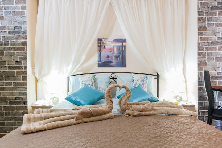 stylish and cozy double bedroom for your perfect vacation :)