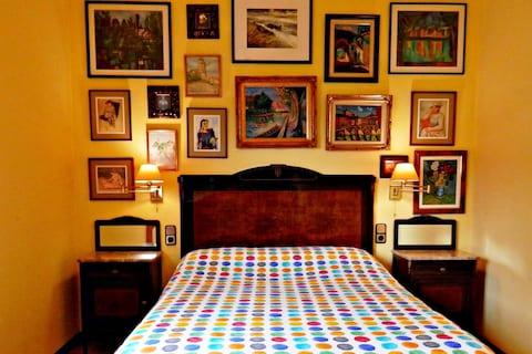 Habitación doble para visitas a Pamplona y Navarra