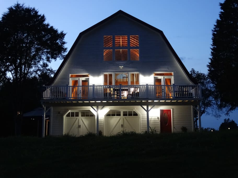 The stars are great at night. The barn is good for a family get-together, party or wedding.