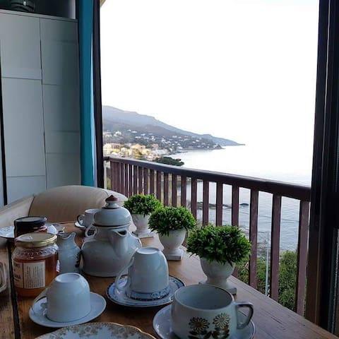 Appartement Bord de Mer, début du Cap Corse - San-Martino-di-Lota - Daire