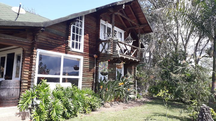 Cabaña entera Beautiful log cabine