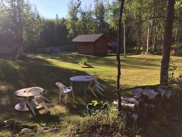 Private, Custom-Built Log Cabin - Wasilla - Hytte