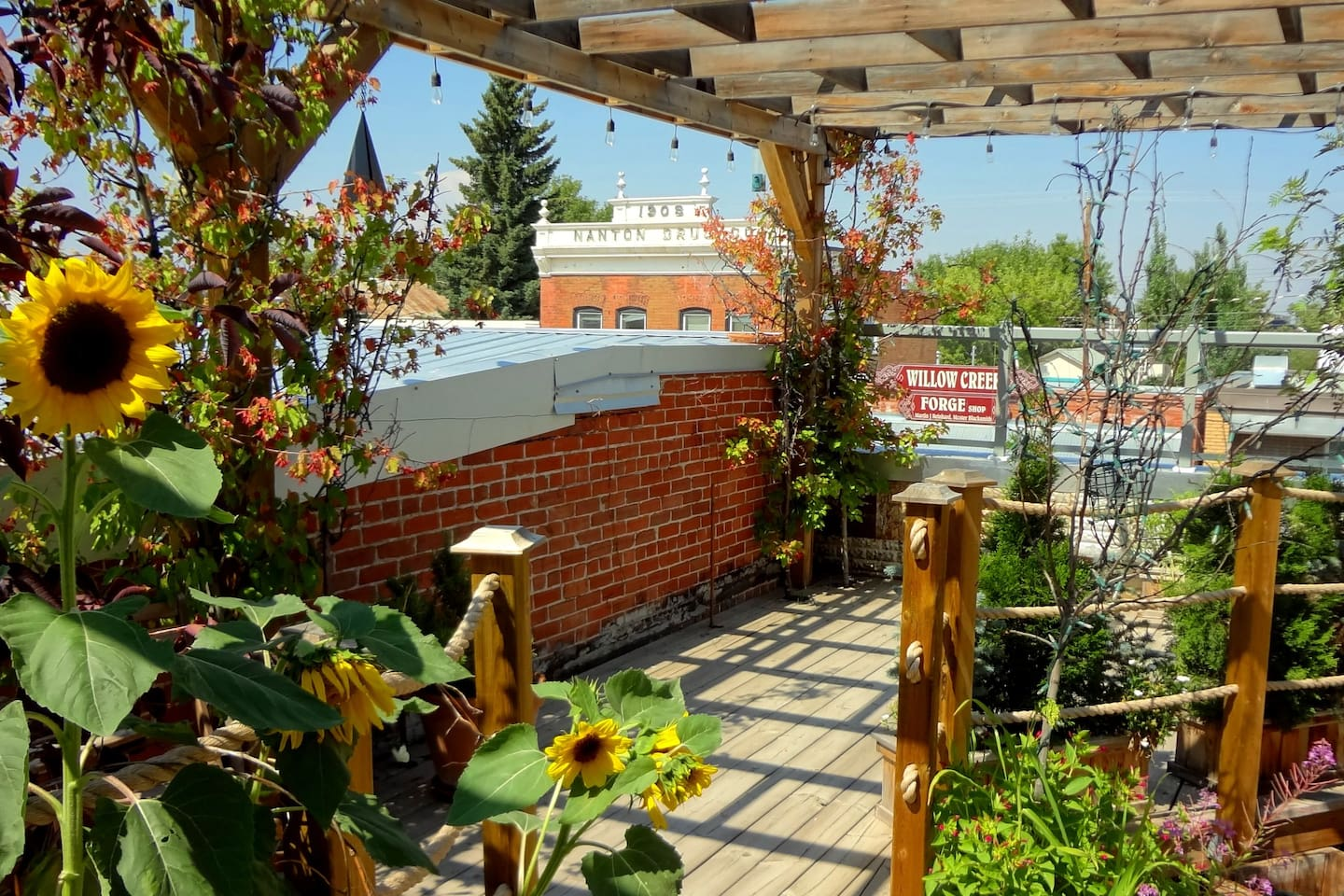 Rooftop apartment in Nanton with terrace garden. - Lofts for Rent in ...