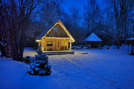 Log cabin with sauna
